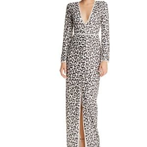 Rachel Zoe Carey sequined leopard gown in multi !